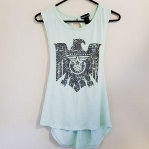 Wet Seal Eagle Print Twisted Tank